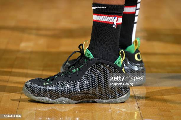 The sneakers of Markieff Morris of the Washington Wizards during the game against the New Orleans Pelicans on November 24 2018 at Capital One Arena...