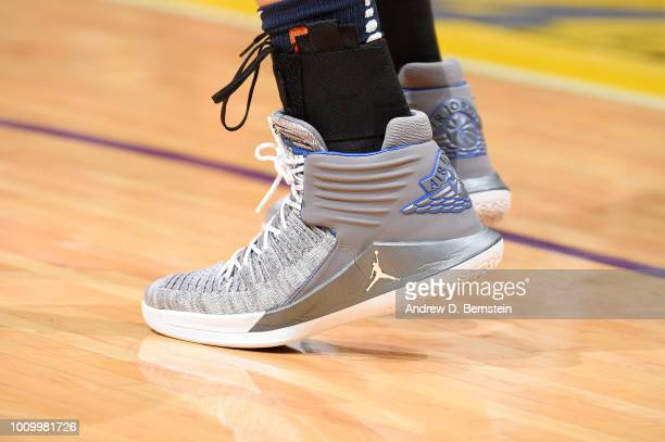 The sneakers of Maya Moore of the Minnesota Lynx are seen during the game against the Los Angeles Sparks on August 2 2018 at STAPLES Center in Los...