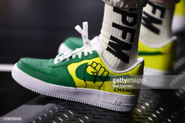 The sneakers of Megan Rapinoe on AUGUST 25 2020 at Feld Entertainment Center in Palmetto Florida NOTE TO USER User expressly acknowledges and agrees...