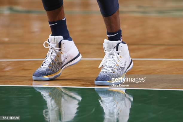 The sneakers of Mike Conley of the Memphis Grizzlies during the game against the Milwaukee Bucks on November 13 2017 at the BMO Harris Bradley Center...