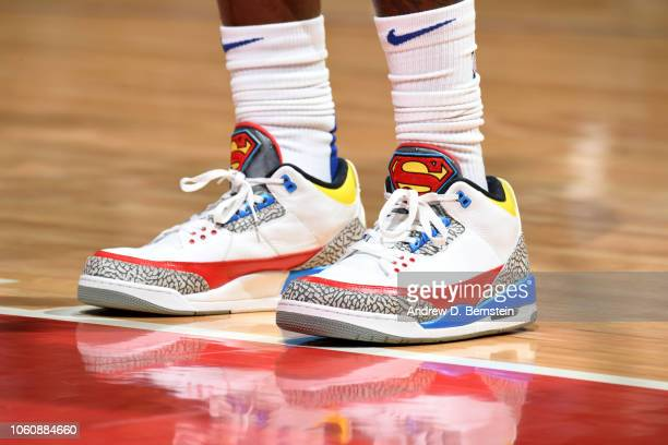 The sneakers of Montrezl Harrell of the LA Clippers during the game against the Golden State Warriors on November 12 2018 at STAPLES Center in Los...