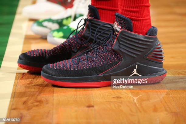 The sneakers of Otto Porter Jr #22 of the Washington Wizards are seen during the game against the Boston Celtics on December 25 2017 at the TD Garden...