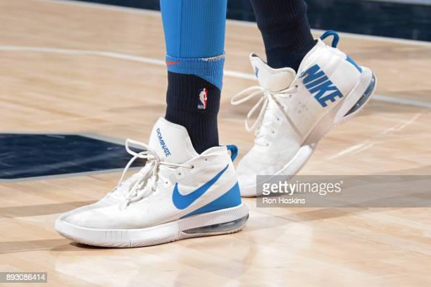 The sneakers of Patrick Patterson of the Oklahoma City Thunder of the Indiana Pacers during the game against the Oklahoma City Thunder on December 13...