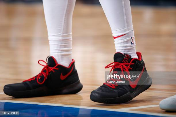 The sneakers of Paul Zipser of the Chicago Bulls are seen during the game against the Dallas Mavericks on January 5 2018 at the American Airlines...