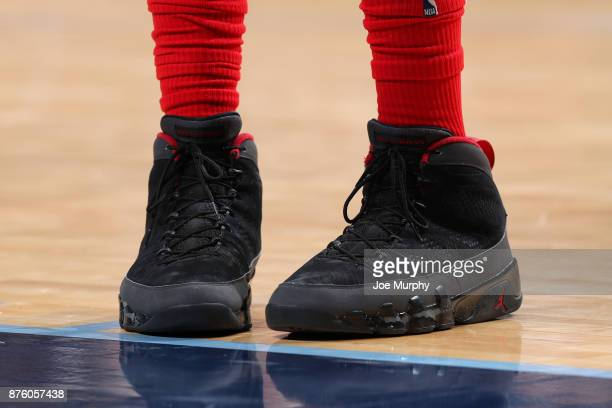The sneakers of PJ Tucker of the Houston Rockets are seen during the game against the Memphis Grizzlies on November 18 2017 at FedExForum in Memphis...