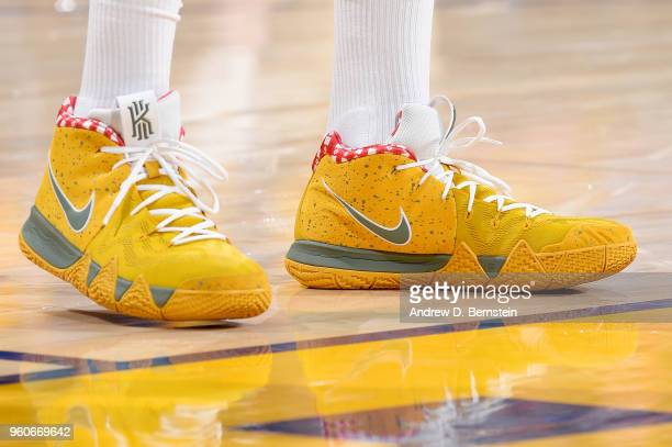 The sneakers of PJ Tucker of the Houston Rockets are seen during the game against the Golden State Warriors during Game Three of the Western...