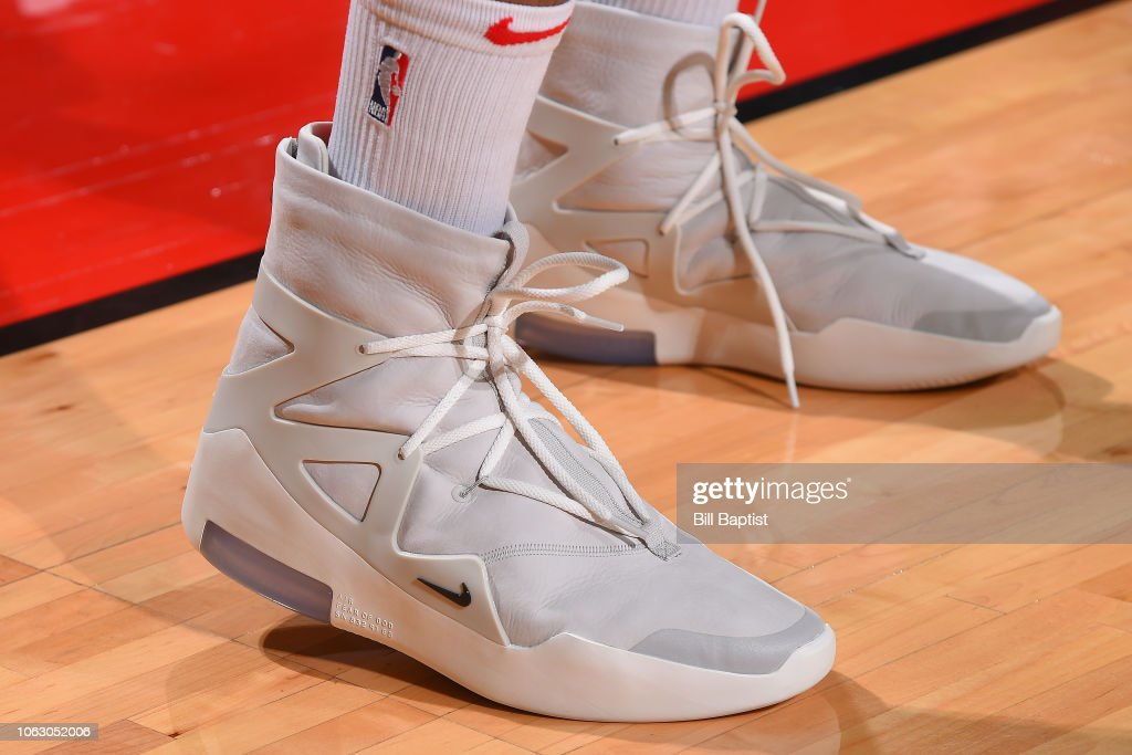 ae808505471 The sneakers of PJ Tucker of the Houston Rockets are worn during a ...