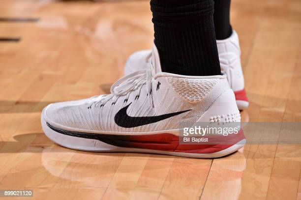 The sneakers of PJ Tucker of the Houston Rockets during the game LA Clippers on December 22 2017 at the Toyota Center in Houston Texas NOTE TO USER...