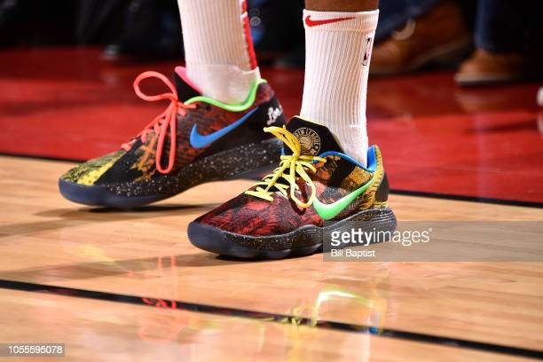The sneakers of PJ Tucker of the Houston Rockets during the game against the Portland Trail Blazers on October 30 2018 at the Toyota Center in...