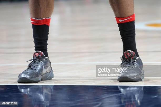 The sneakers of PJ Tucker of the Houston Rockets during the game against the Utah Jazz on December 7 2017 at VivintSmartHome Arena in Salt Lake City...