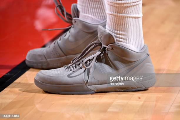 The sneakers of PJ Tucker of the Houston Rockets during the game against the Minnesota Timberwolves on January 18 2018 at the Toyota Center in...