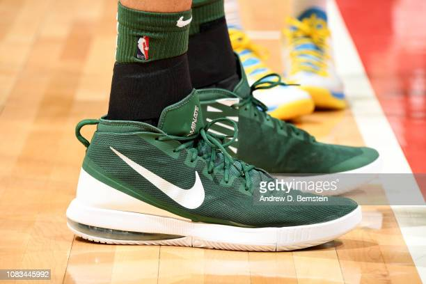The sneakers of Rudy Gobert of the Utah Jazz are seen against the LA Clippers on January 16 2019 at STAPLES Center in Los Angeles California NOTE TO...