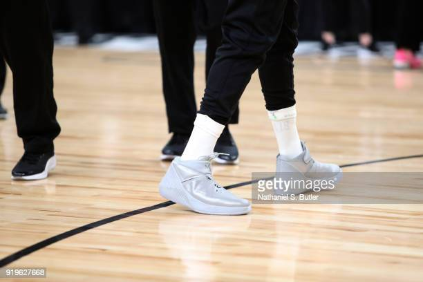 The sneakers of Russell Westbrook of Team LeBron during the NBA AllStar practice as part of the 2018 NBA AllStar Weekend on February 17 2018 at the...