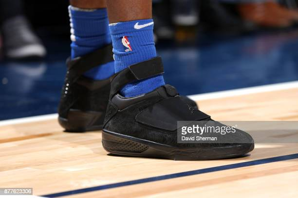 The sneakers of Terrence Ross of the Orlando Magic during the game against the Minnesota Timberwolves on November 22 2017 at Target Center in...