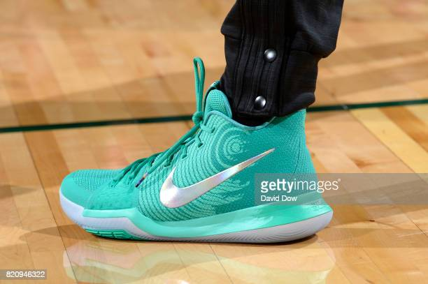 The sneakers of Tina Charles of the Eastern Conference All Stars is seen before the game against the Western Conference All Stars during the 2017...