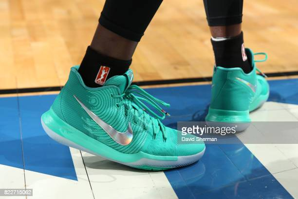 The sneakers of Tina Charles of the New York Liberty are seen during the game against the Minnesota Lynx on July 25 2017 at Target Center in...