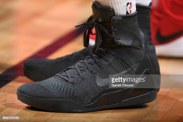 The sneakers of Trey Lyles of the Denver Nuggets are seen during the game against the Toronto Raptors on November 1 2017 at the Pepsi Center in...