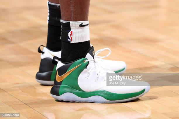 The sneakers of Wayne Selden of the Memphis Grizzlies before the game against the Utah Jazz on February 7 2018 at FedExForum in Memphis Tennessee...