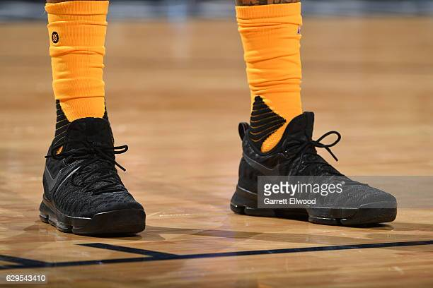 The sneakers of Wilson Chandler of the Denver Nuggets are seen during a game against the Toronto Raptors on November 18 2016 at the Pepsi Center in...