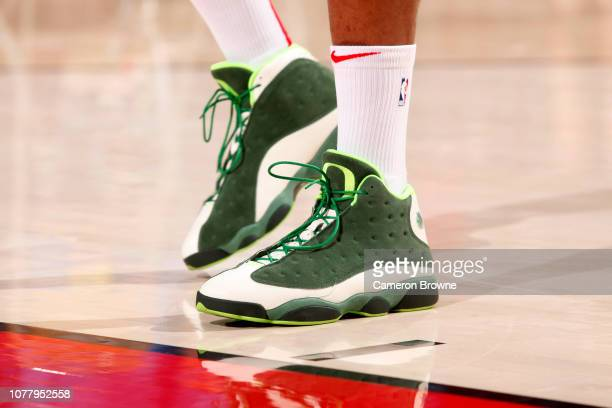 The sneakers warn by PJ Tucker of the Houston Rockets during the game against the Portland Trail Blazers on January 5 2019 at the Moda Center Arena...