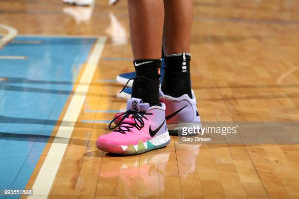 The sneakers worn by Alaina Coates of the Chicago Sky during the game against the Minnesota Lynx on July 07 2018 at the Wintrust Arena in Chicago...
