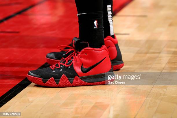 The sneakers worn by Alex Len of the Atlanta Hawks against the Chicago Bulls on January 23 2019 at the United Center in Chicago Illinois NOTE TO USER...