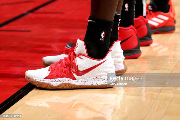 The sneakers worn by Bobby Portis of the Chicago Bulls against the Atlanta Hawks on January 23 2019 at the United Center in Chicago Illinois NOTE TO...
