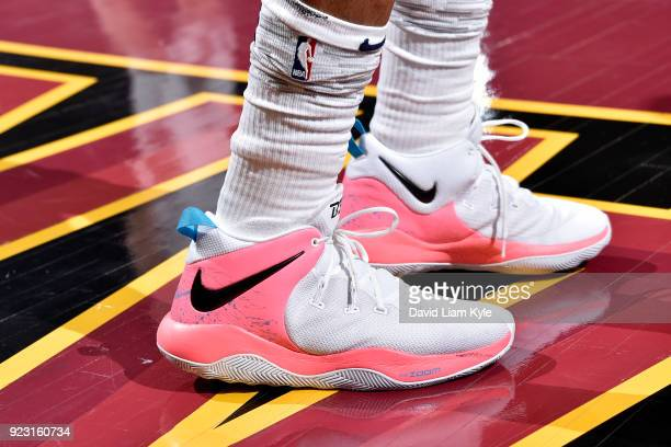 the sneakers worn by Bradley Beal of the Washington Wizards are seen during the game against the Cleveland Cavaliers on February 22 2018 at Quicken...