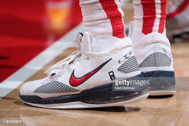 The sneakers worn by Bradley Beal of the Washington Wizards during the game against the LA Clippers on December 8 2019 at Capital One Arena in...