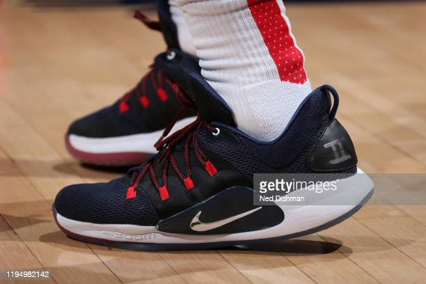 The sneakers worn by Bradley Beal of the Washington Wizards during the game against the Detroit Pistons on January 20 2020 at Capital One Arena in...