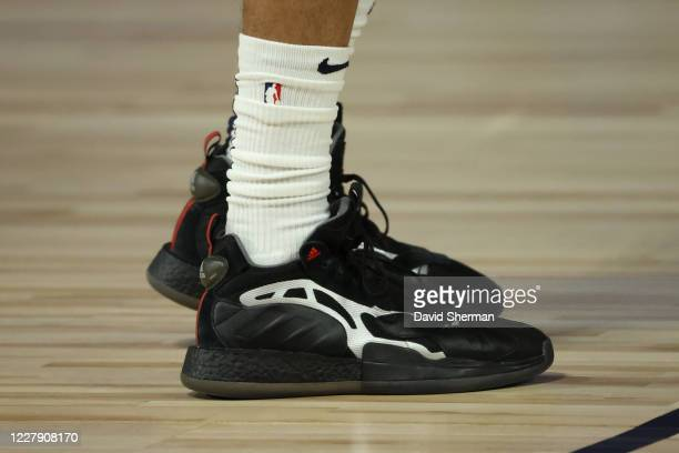 The sneakers worn by Brandon Ingram of the New Orleans Pelicans during the game against the Memphis Grizzlies on August 3 2020 at HP Field House at...