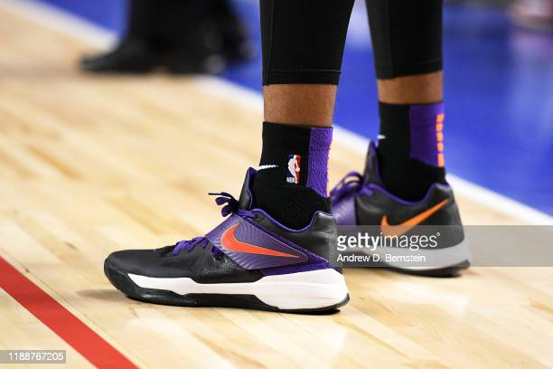 The sneakers worn by Cameron Johnson of the Phoenix Suns during the game against the San Antonio Spurs on December 14 2019 at the Arena Ciudad de...