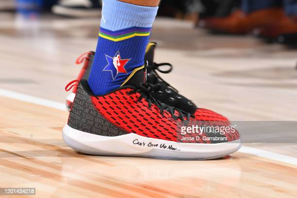The sneakers worn by Chris Paul of Team LeBron during the 69th NBA AllStar Game on February 16 2020 at the United Center in Chicago Illinois NOTE TO...
