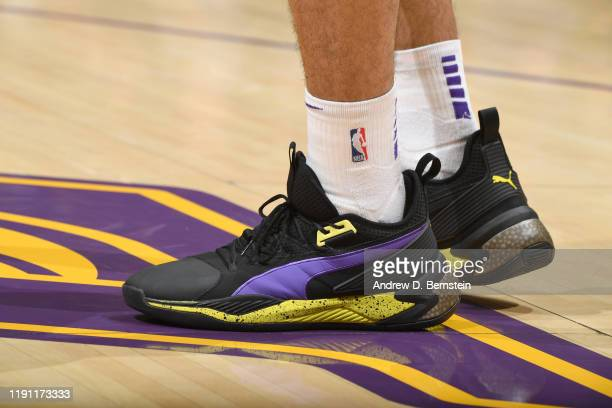The sneakers worn by Danny Green of the Los Angeles Lakers against the Phoenix Suns on January 1 2020 at STAPLES Center in Los Angeles California...