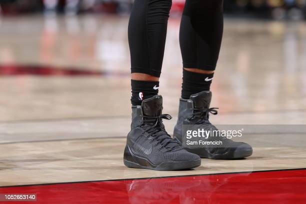 ddb0534ff877 The sneakers worn by DeMar DeRozan of the San Antonio Spurs against the  Portland Trail Blazers