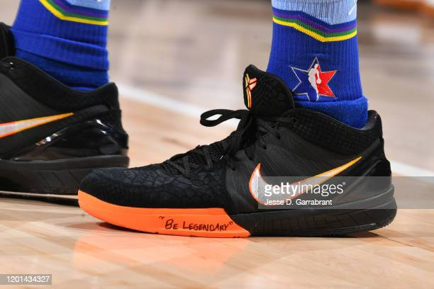 The sneakers worn by Devin Booker of Team LeBron during the 69th NBA AllStar Game on February 16 2020 at the United Center in Chicago Illinois NOTE...