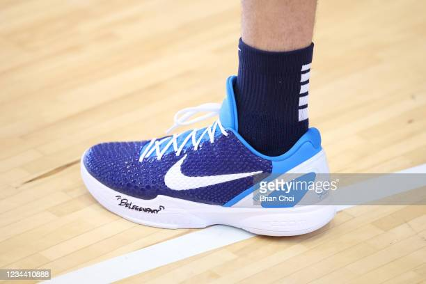 The sneakers worn by Devin Booker of Team USA at practice during the 2020 Tokyo Olympics on August 2, 2021 in Tokyo, Japan. NOTE TO USER: User...