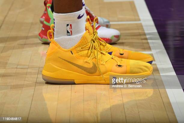 The sneakers worn by Dwight Howard of the Los Angeles Lakers during the game against the LA Clippers on December 25 2019 at STAPLES Center in Los...