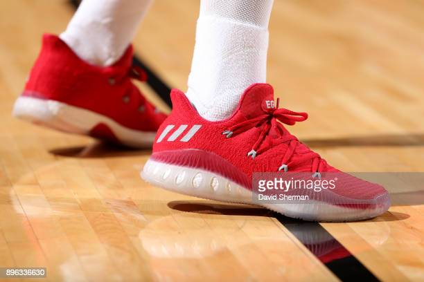 the sneakers worn by Eric Gordon of the Houston Rockets are seen during the game against the Los Angeles Lakers on December 20 2017 at Toyota Center...