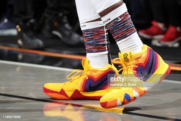 The sneakers worn by Iman Shumpert of the Brooklyn Nets during the game against the Miami Heat on December 1 2019 at Barclays Center in Brooklyn New...