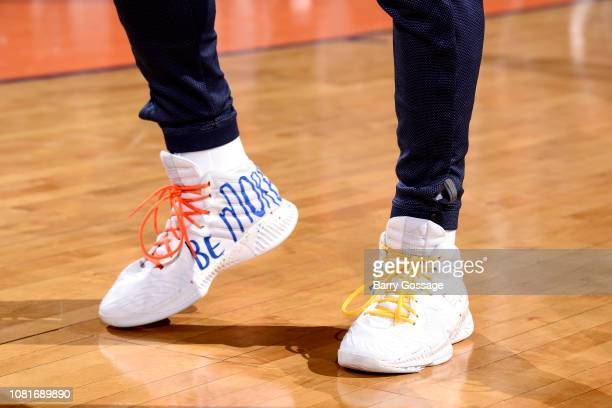 The sneakers worn by Jamal Murray of the Denver Nuggets against the Phoenix Suns on January 12 2019 at Talking Stick Resort Arena in Phoenix Arizona...