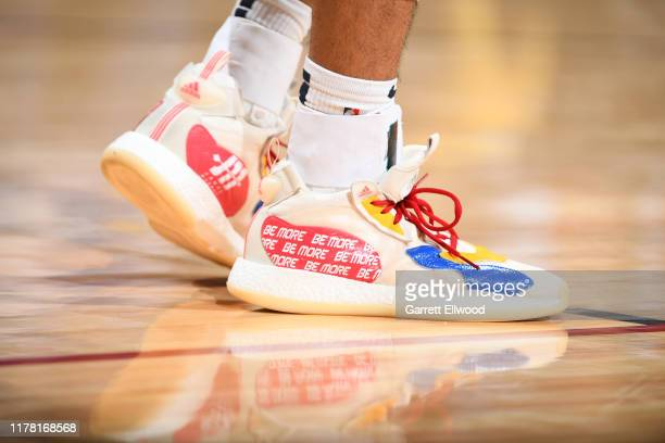 The sneakers worn by Jamal Murray of the Denver Nuggets against the Phoenix Suns on October 25 2019 at the Pepsi Center in Denver Colorado NOTE TO...
