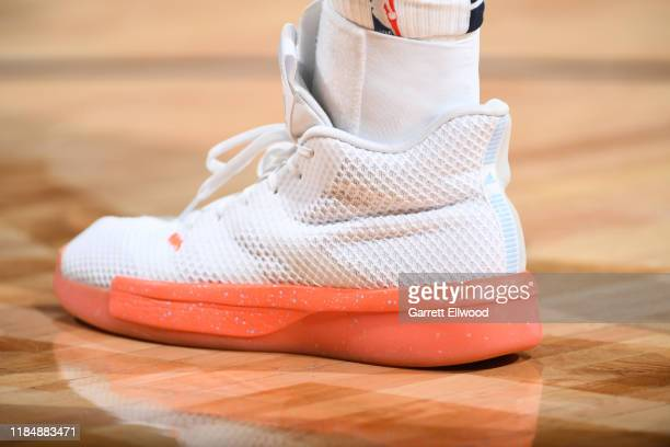 The sneakers worn by Jamal Murray of the Denver Nuggets against the Washington Wizards on November 26 2019 at the Pepsi Center in Denver Colorado...