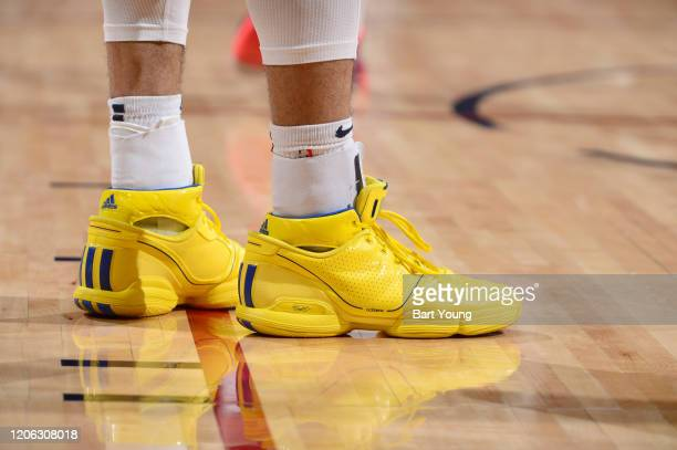 The sneakers worn by Jamal Murray of the Denver Nuggets against the Milwaukee Bucks on March 09 2020 at the Pepsi Center in Denver Colorado NOTE TO...