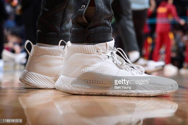 The sneakers worn by Jamal Murray of the Denver Nuggets during the game against the Cleveland Cavaliers on January 11 2020 at the Pepsi Center in...