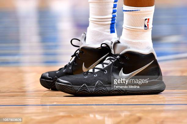 The sneakers worn by Jonathon Simmons of the Orlando Magic against the Cleveland Cavaliers on November 5 2018 at Amway Center in Orlando Florida NOTE...
