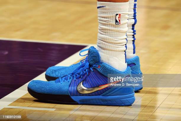 The sneakers worn by Justin Jackson of the Dallas Mavericks during the game against the Los Angeles Lakers on December 29 2019 at STAPLES Center in...