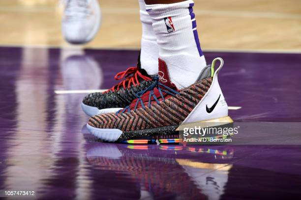 The sneakers worn by Kentavious CaldwellPope of the Los Angeles Lakers against the Toronto Raptors on November 4 2018 at Staples Center in Los...