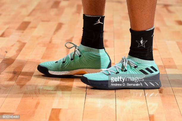 the sneakers worn by Kyle Lowry Of Team Stephen are seen during the NBA AllStar Game as a part of 2018 NBA AllStar Weekend at STAPLES Center on...