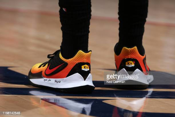 The sneakers worn by Kyrie Irving of the Brooklyn Nets during the game against the Washington Wizards on February 1 2020 at Capital One Arena in...